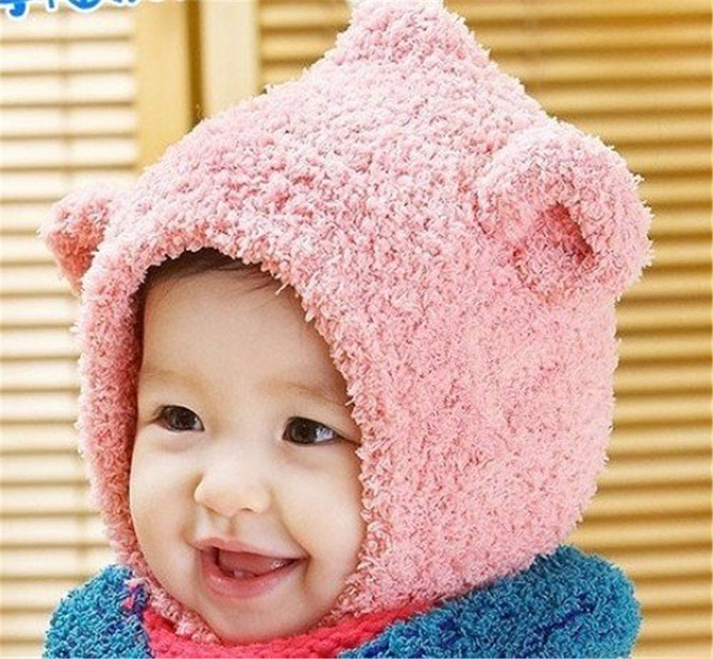 7db7b3dfec3 Get Quotations · Niwota Fashion Cute Ears Baby Infant Winter Warm Cap Hat  Beanie + Scarf Set with One