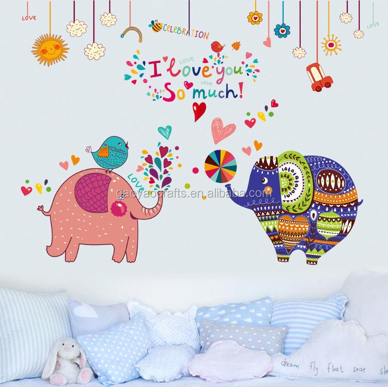 Tela elefante de dibujos animados niños de jardín de infantes ...