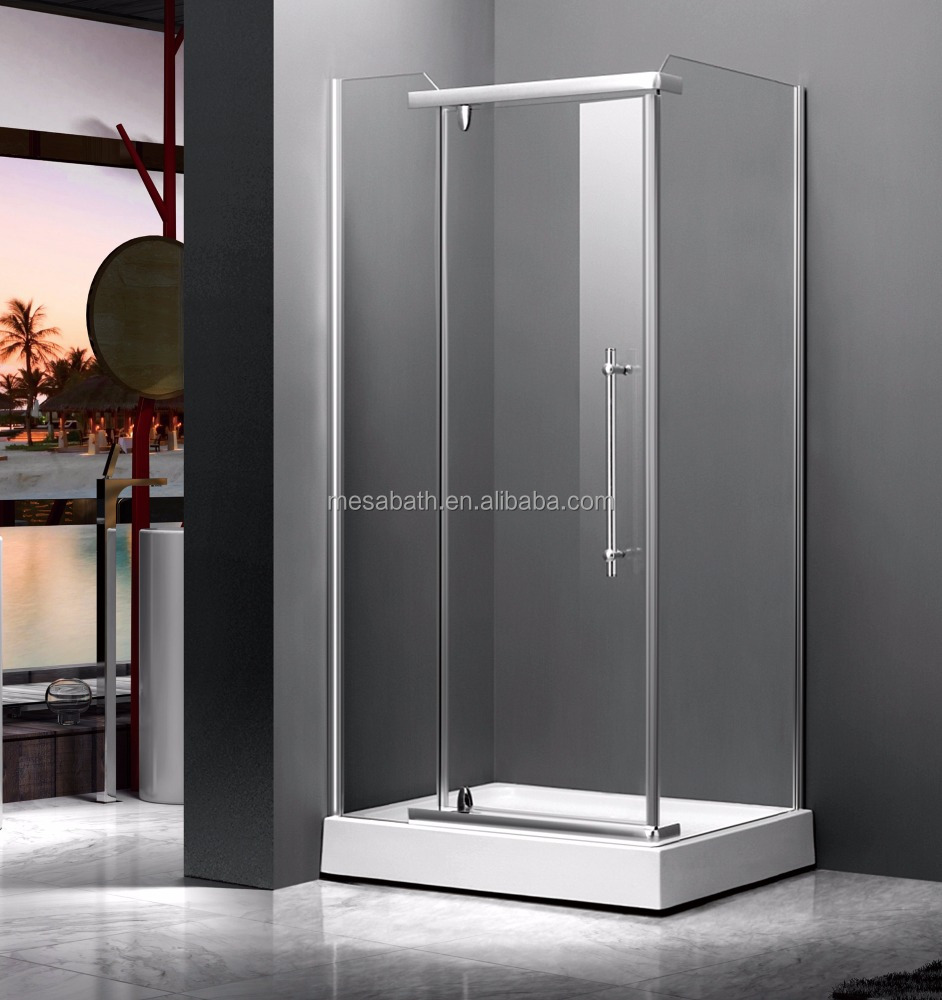 2017 New Acrylic Shower Screen Shower Door Extension With Aluminum