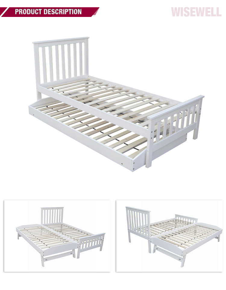 With quality warranty wooden box bed single
