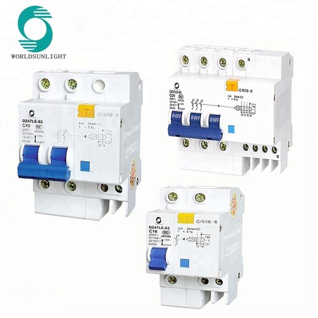 2 C16 Interruttore corrente residua 230V//16A Protezione da dispersione di corrente 230V//16A DZ47LE-32 2P