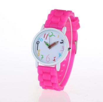 b2dd8814f7b Compras Online de silicone barato pulseira de relógio cores doces crianças  relógios ...