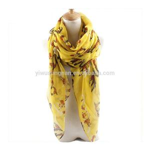 Latest Fashionable Ladies LOVE Letter Fresh Printed Voile Scarf