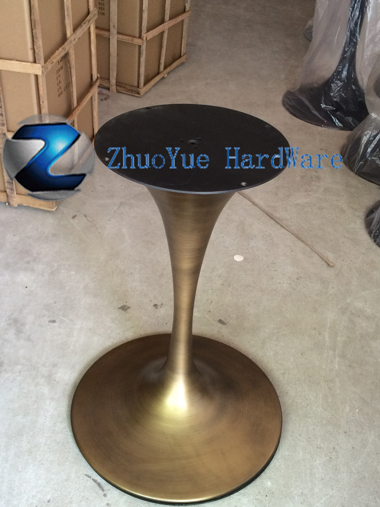 Antique Style Cast Wrought Iron Table Legs Brushed Bronze