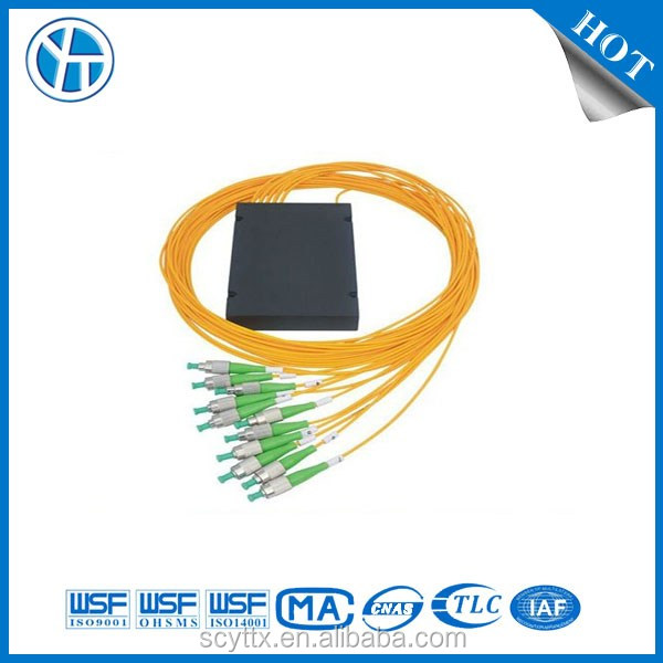 FTTH singlemode fiber optic splitter PLC 1:8 1:4 1:2 1:16 1:32 1:64