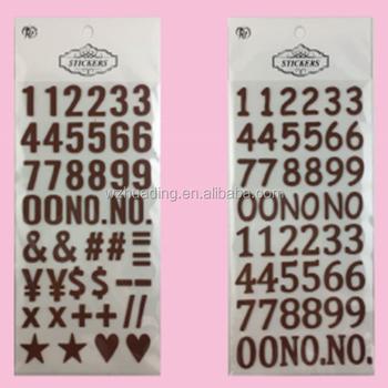 popular leather alphabet letter number sticker,3d wall sticker - buy