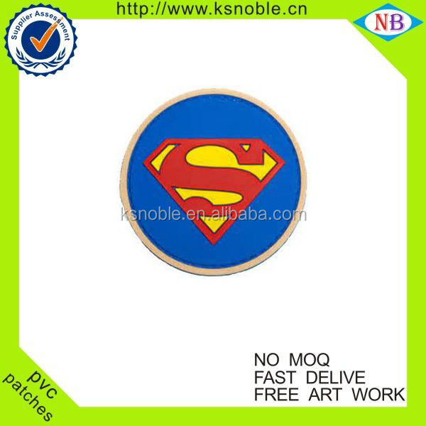 Personalized custom cheap superman pvc patch