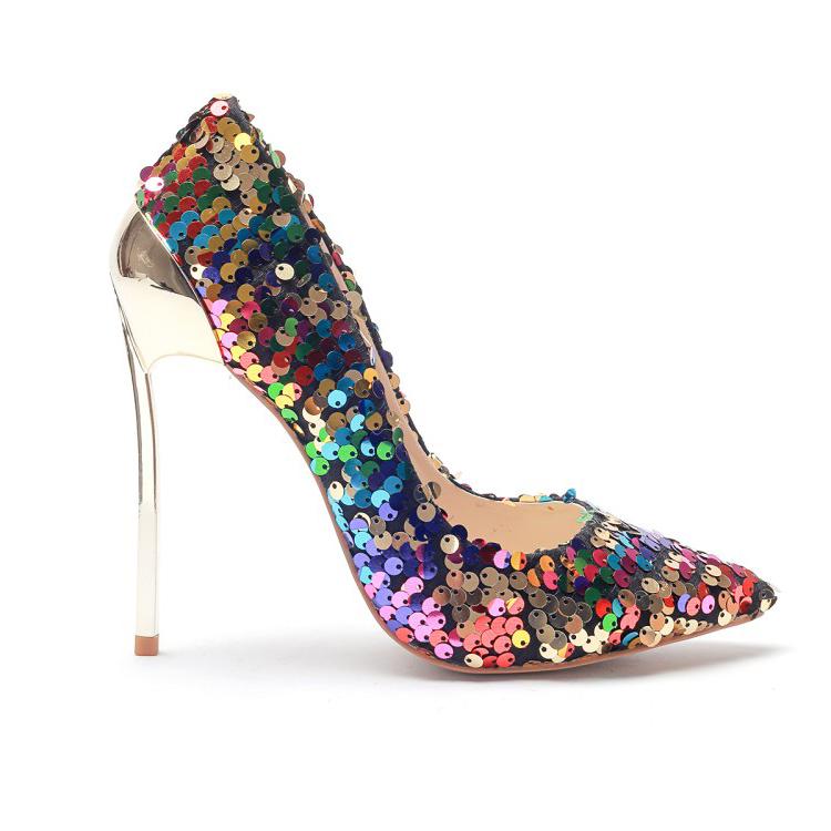 Zapatos Con Lentejuelas Brillantes De Fiesta Para Mujer,Tacones Altos Para Mujer Buy Zapatos De Tacón Alto Para Mujer,Zapatos De Tacón Alto