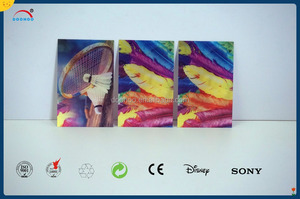 offset printing 3D lenticular card customized business card