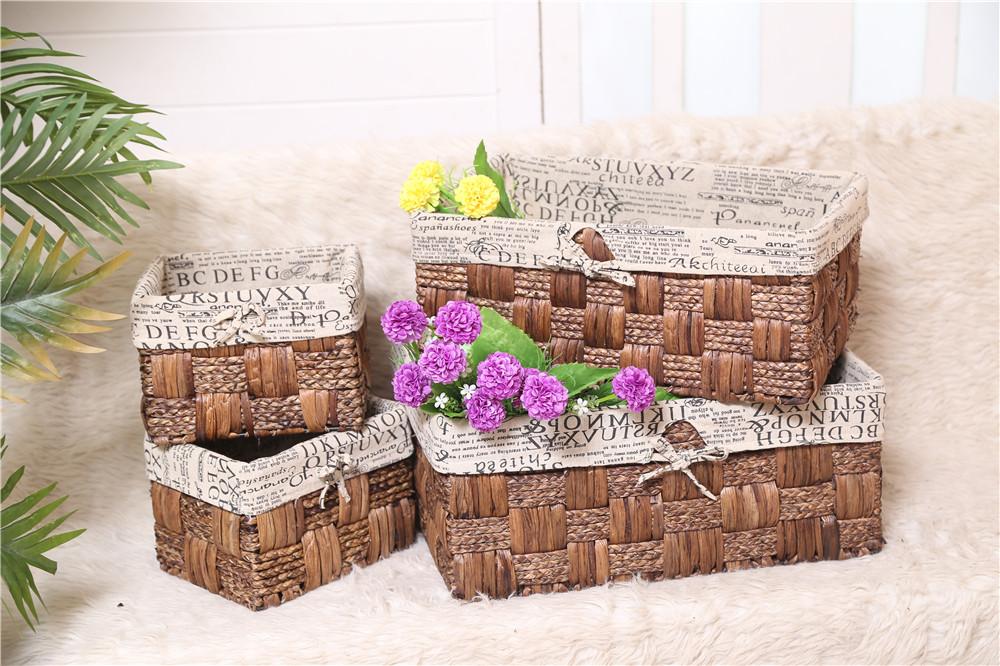grossiste panier de rangement rectangulaire avec couvercles acheter les meilleurs panier de. Black Bedroom Furniture Sets. Home Design Ideas