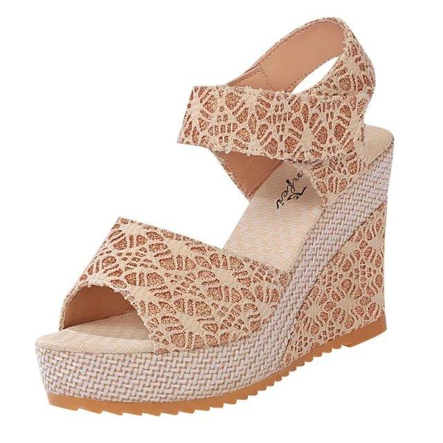 b7611c31e36 35-40  Women Latest High Heel Sandals Ladies Wedge Sandals - Buy ...