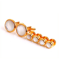 For shirts Shell Cufflinks Sets18 K gold plated Mother of pearl Cuff links