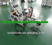 MT-50 manual round bottle labeling machine;semi automatic adheisve labeling machine;semi automatic labeling machine manufacturer