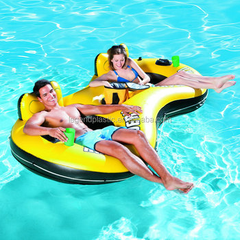pool water with float. Delighful Water PVC Inflatable Pool Water Float For Double Person  Chair Floating Two Inside Pool Water With Float U