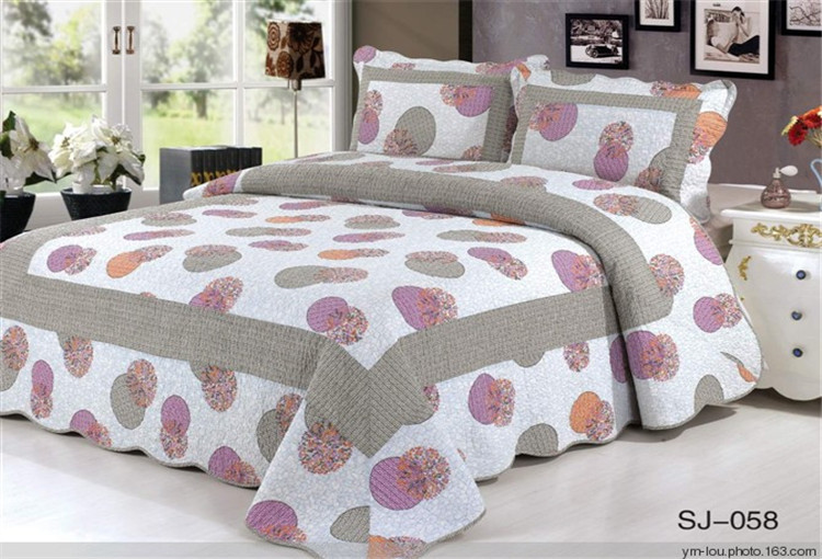 Custom printed handmade colorful flower cotton microfiber bed sheet ...