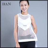 Sexy Loose Fitness Vest Breathable Mesh Quick Dry Running Sleeveless T-shirt Summer Solid Sport Tank Tops Yoga Vest