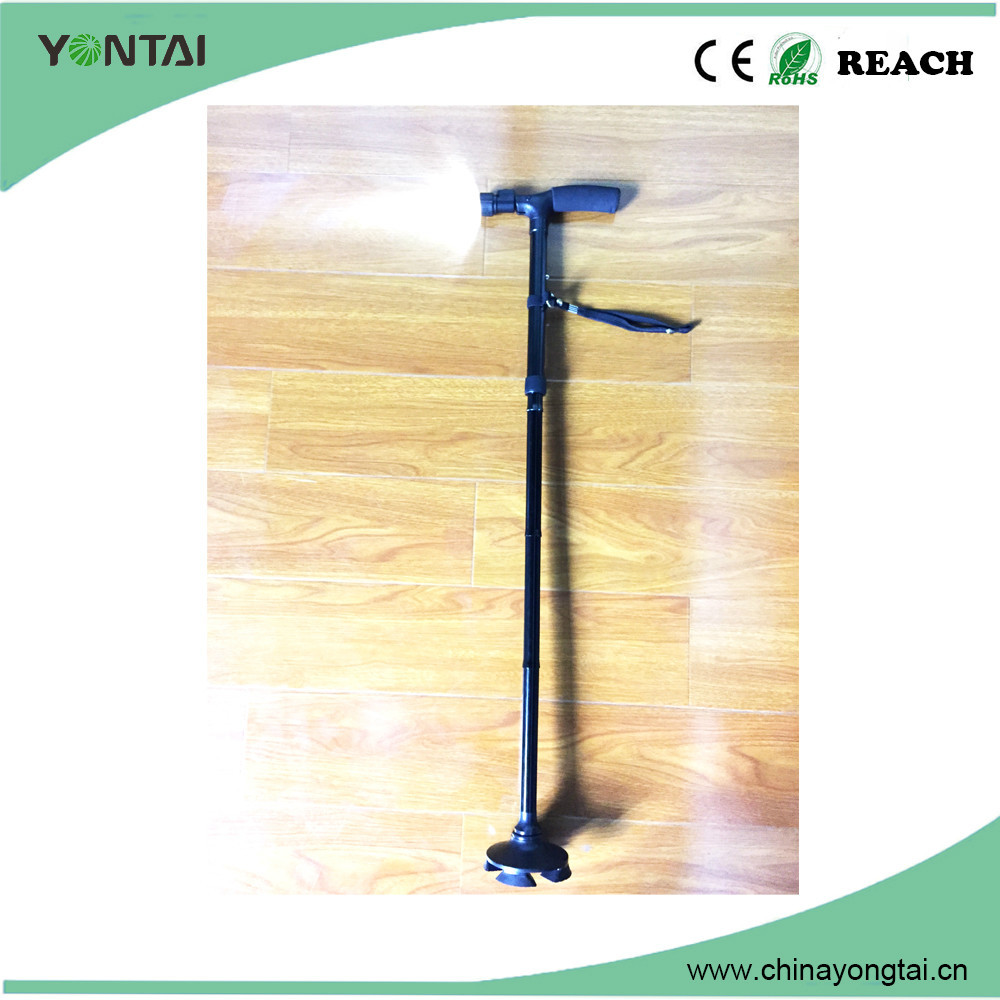 Adjustable aluminum alloly walking cane with led