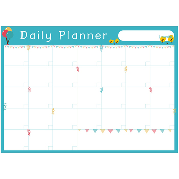 monthly weekly planner and daily to do list dry erase magnetic