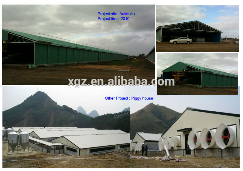 Steel Structure Low Cost Chicken Layer House Shed Poultry For Broliers Design
