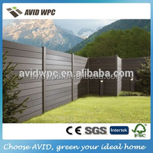 high quality cheap wood plastic composite wpc decorative garden fence price for sale