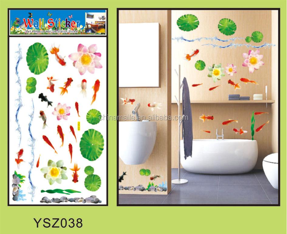 Kustom dinding kamar mandi ubin stiker untuk anak anak stiker dinding untuk kamar mandi