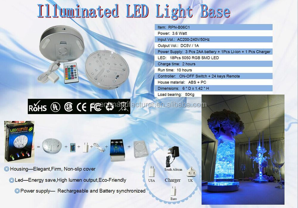 beautiful rechargeable led table decorations centerpieces lights for rental beautiful color table uplighting