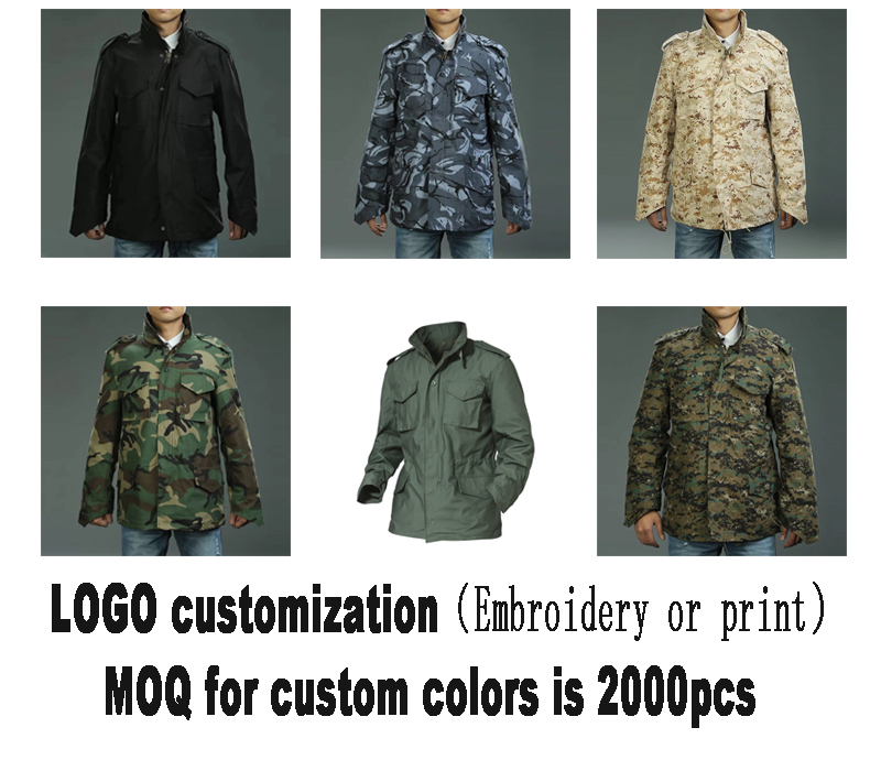 Military uniform winter men clothing field camo jacket army camouflage jacket for hunting camping