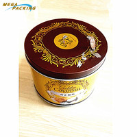 Holiday Customized Promotional Printed Round Musical Tin Box for Christmas Gift Decoration Music tin box for Storage