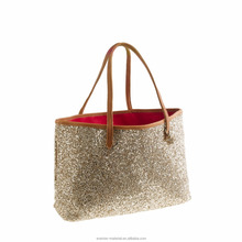 Fashion Glitter PU/PVC Leather Fabric For Bag Material