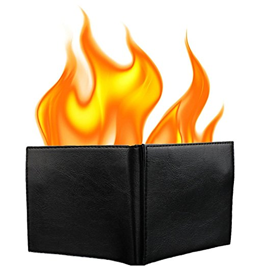 Magic Flaming Fire Wallet Magician Stage Street Inconceivable Show Prop