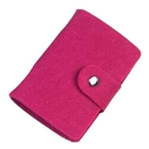 Card Holder - SODIAL(R) Vintage Womens Pouch ID Credit Card Wallet Cash Holder Organizer Case Box Pocket, card holder, Rose red