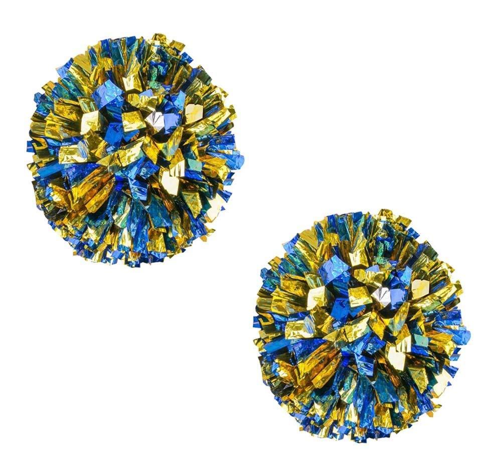 DRAGON SONIC Set of 2 Beautiful Cheerleading Pom Poms Cheerleaders Sport Accessories,Blue