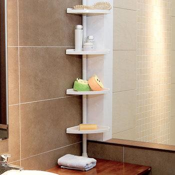 4 Tiers Bathroom Toilet Corner Shelf With Adjustable Height