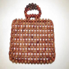 OEM ODM fashion wood beads beaded clutch hand bag for women