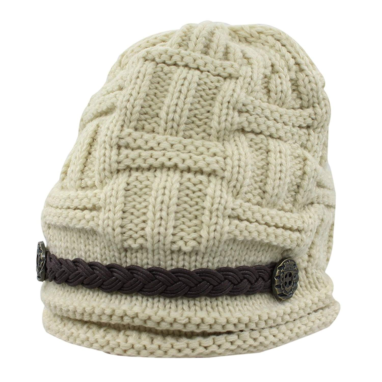7481316cc6b Get Quotations · Women s Fashion Winter Braided Warm Baggy Beanie Knit  Crochet Ski Hat Cap