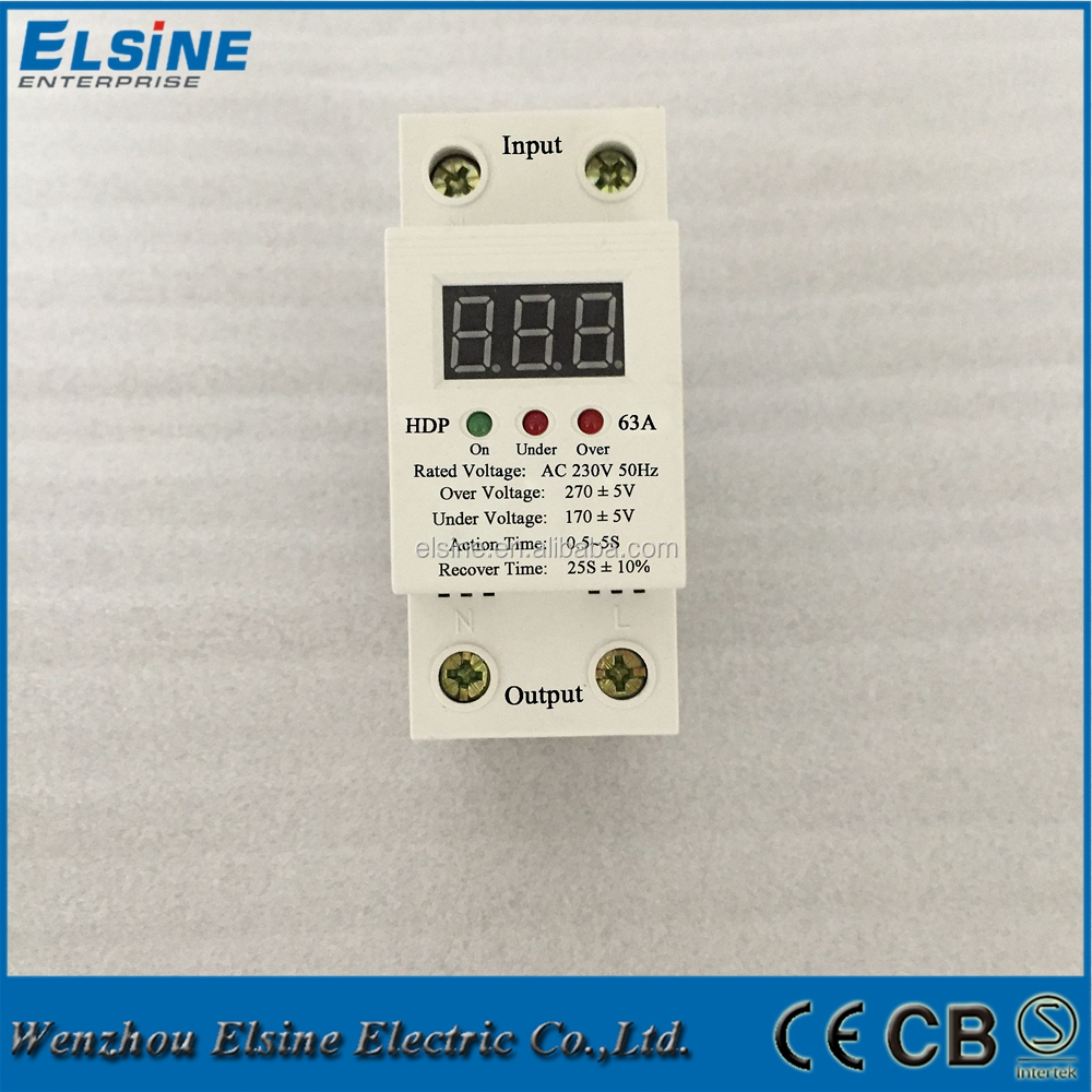 A3m 63a-220v Household Appliances Din Rail Lcd Display Automatic ...