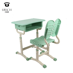 Height adjustable classroom sets school desk and chair for primary student
