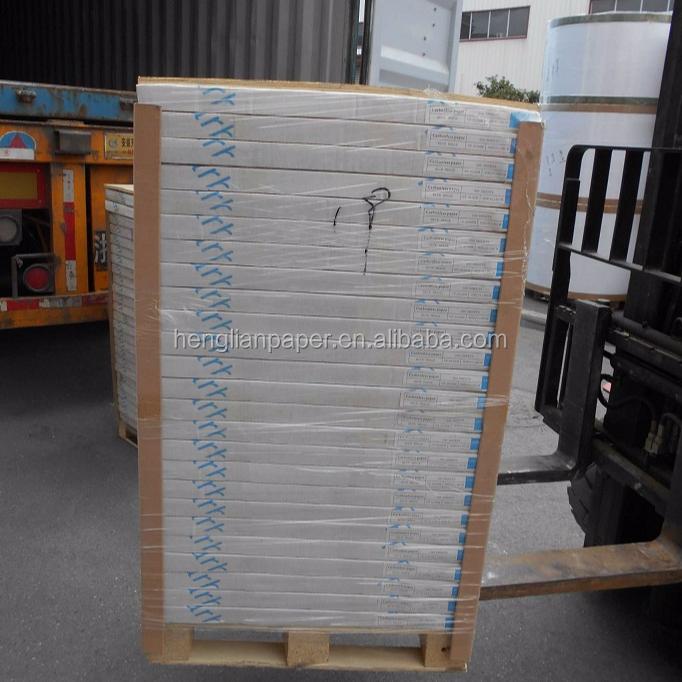 プレミアム品質のブルー画像バージン木材パルプノーカーボン紙ミル