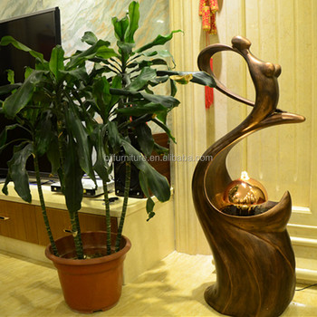 Creative indoor fountain sculpture with led light and water flowing creative indoor fountain sculpture with led light and water flowing workwithnaturefo