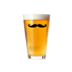 16oz Beard Printing Stylish Drinkware Beer Glass Tumbler glass cup