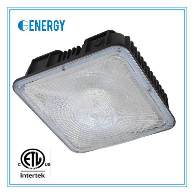 square shaped retrofit canopy led light 60w gas station used