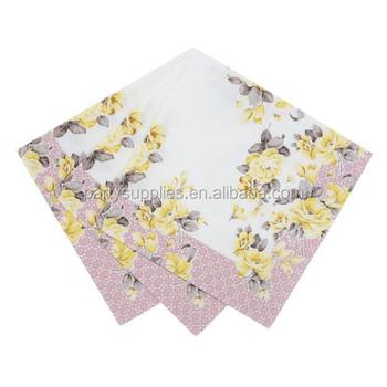 vintage afternoon tea party 33cm x 33cm 20 x floral paper napkins