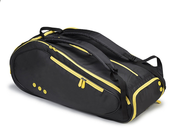 Multifunction badminton tennis racket bag with shoe compartment