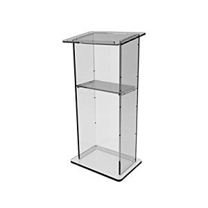 """FixtureDisplays Clear Acrylic Lucite Podium Pulpit Lectern 43"""" Tall 102703"""