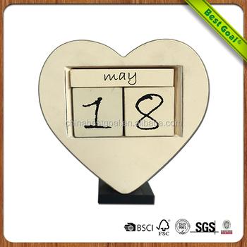 Mdf Wooden Creative Calendar Diy Perpetual Calendar  Buy Diy