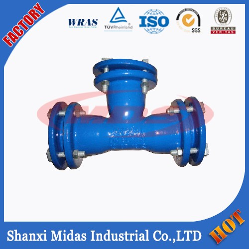 Ductile iron mechanical joint pipe fitting k type bolted