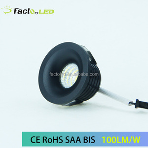 High quality black round mini cob led spotlight 3W with BIS approval