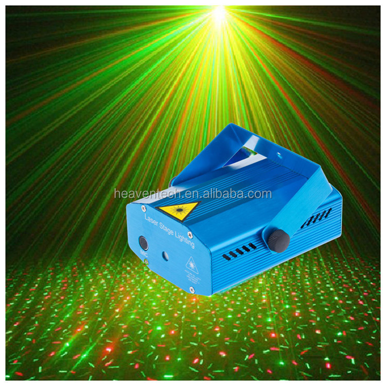 sound auto sensitive mini stage laser light
