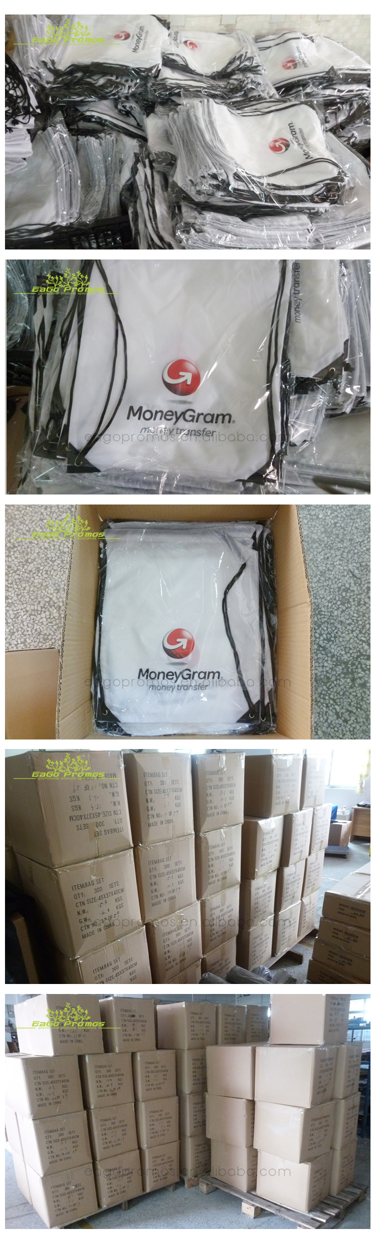 Clear  pvc sublimation drawstring bag backpack for outdoor packing and easy carry folding bag
