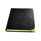 Leather bound day journal notebook planner with logo embossed